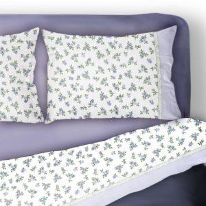 completo-letto-lenzuola-2-piazze-matrimoniale-1-piazza-singolo-1-piazza-e-mezzo-puro-cotone-100%-roselline-su-juta-blu